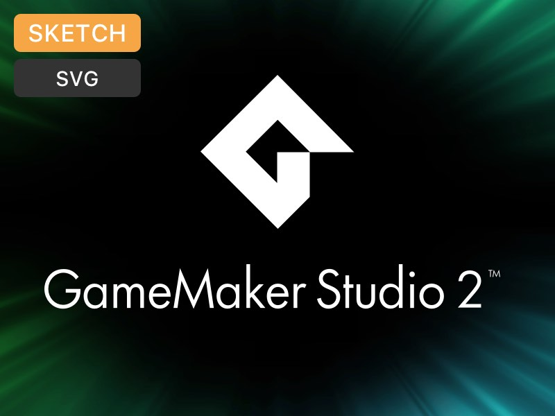 GameMaker Studio 2 Logo (Sketch + SVG)