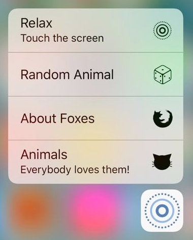 Home Screen Quick Actions