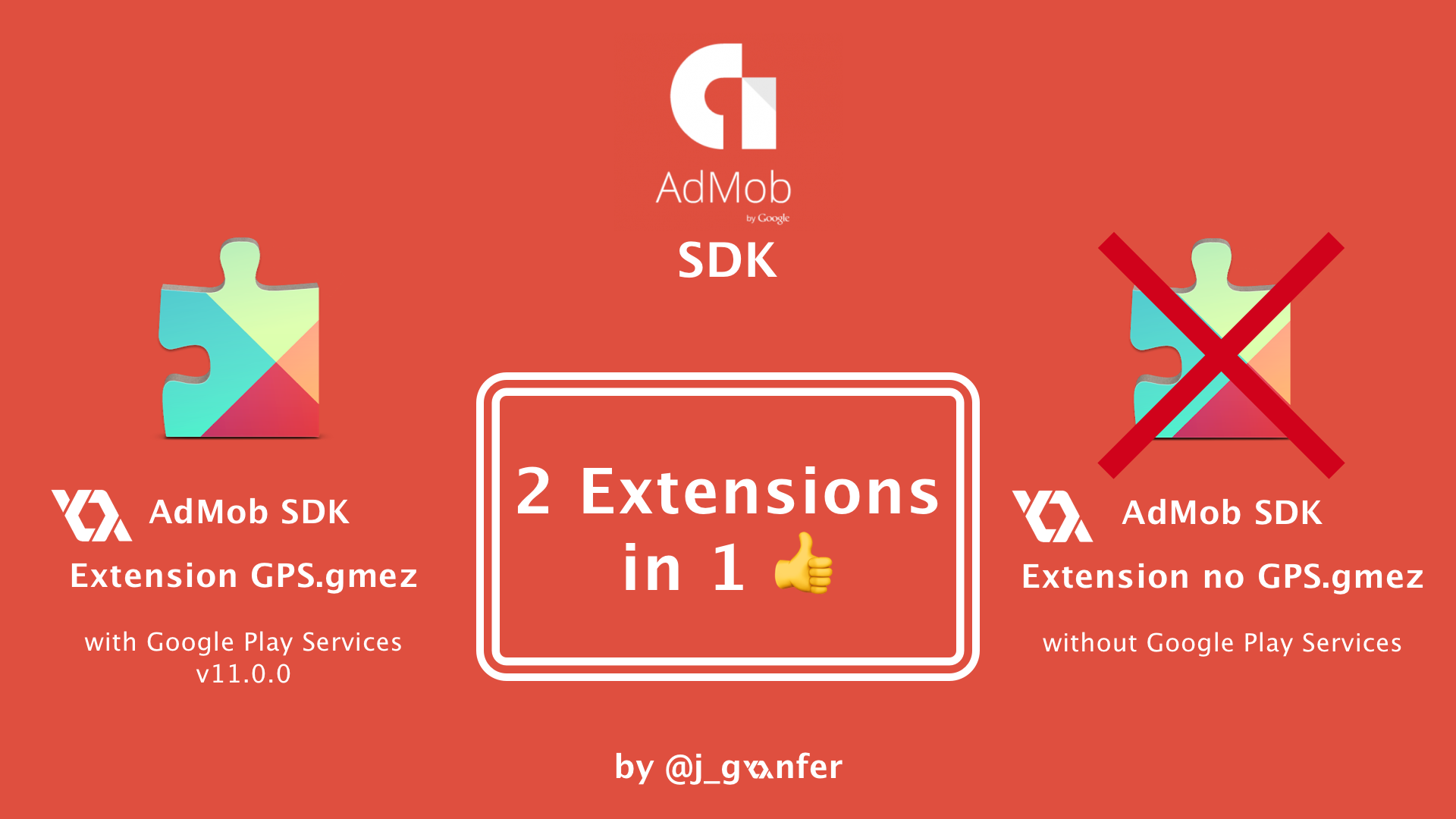 Firebase AdMob SDK Extension 2 Extension in 1