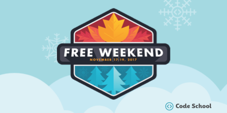 Code School Free Weekend Header