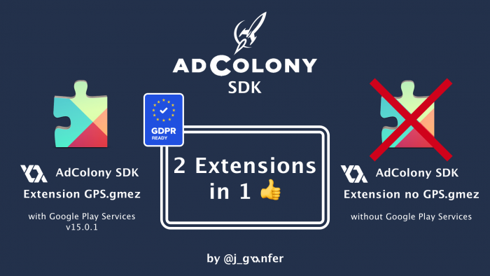 AdColony Extension Google Play Services 15.0.1